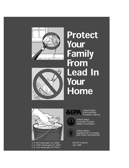 Picture of USA Protect Your Family From Lead in Your Home
