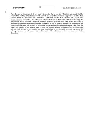 Picture of Arbitration Clause for Agreements   Canada