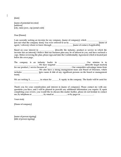 Picture of Business Plan Cover Letter