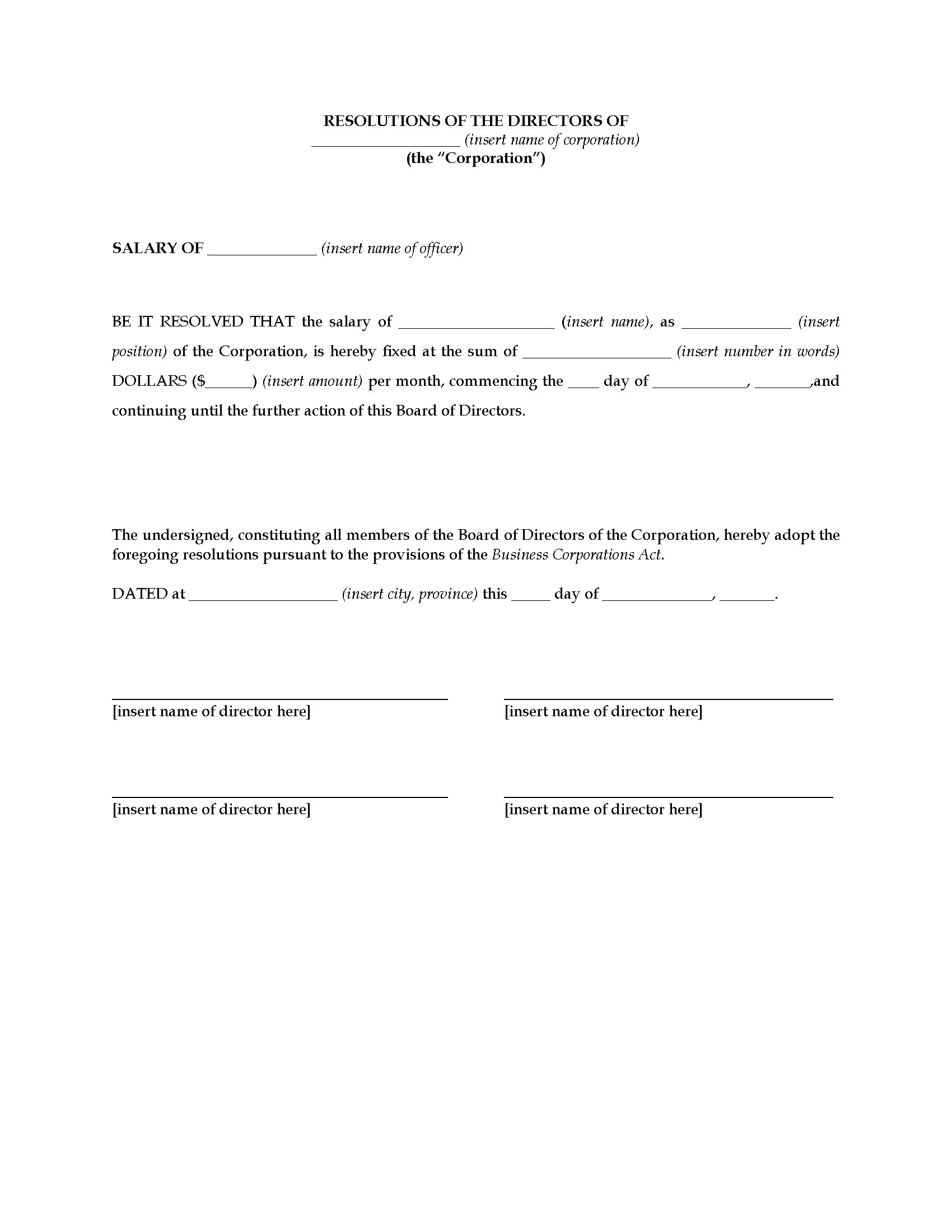 Unusual Board Resolution Templates Photos Example Resume