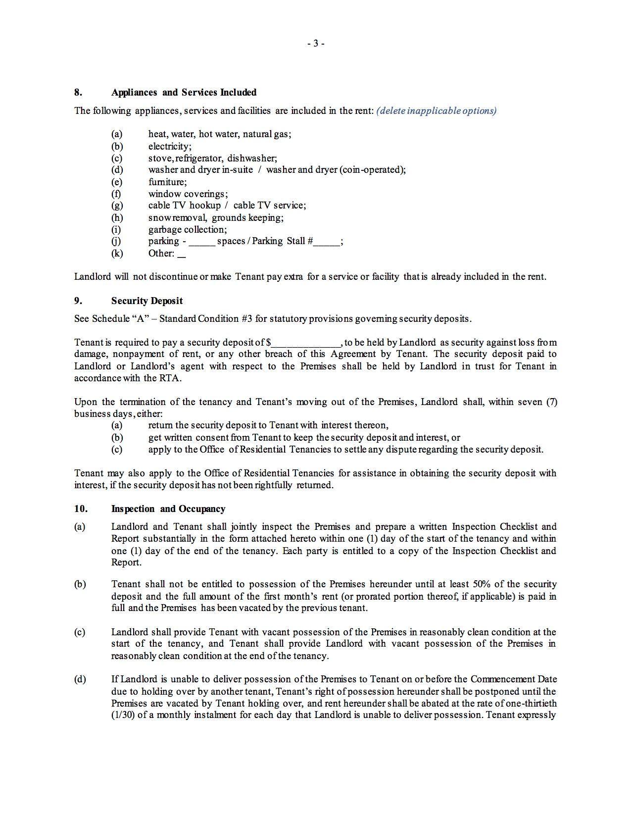 Saskatchewan Residential Fixed Term Lease Or Tenancy