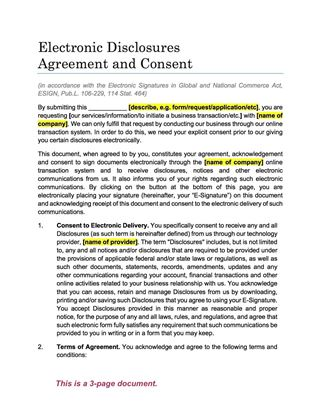esign agreement and consent