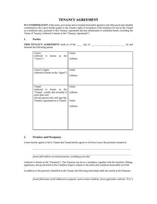 ACT tenancy agreement 1