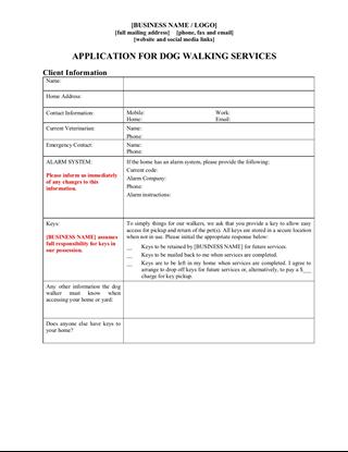 dog walking application