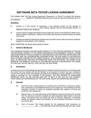 Shareware Evaluation License Form Legal Forms And Business